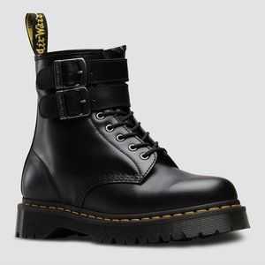 Dr. Martens 1460 SMOOTH LEATHER BUCKLE BOOTS